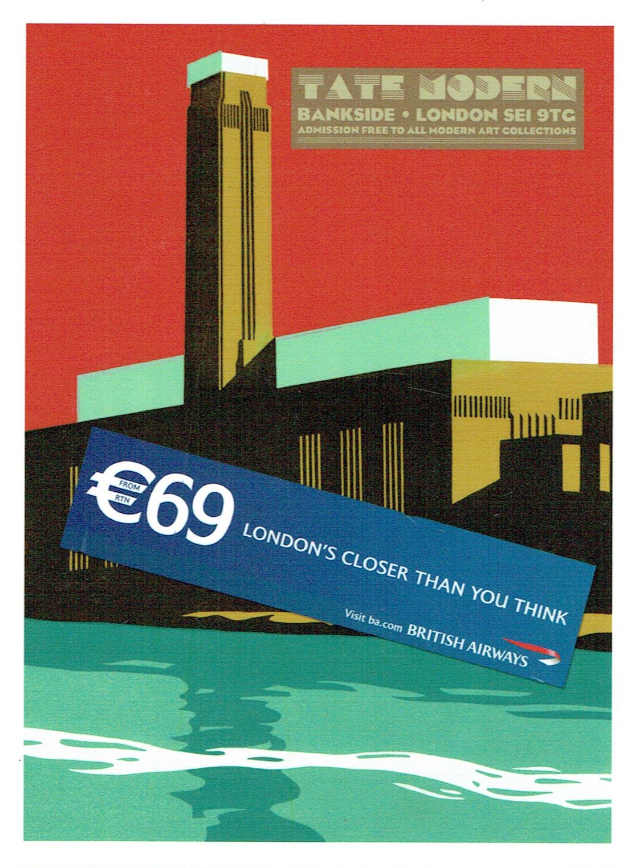 British Airways 'Tate Modern' Poster - Paul Catherall